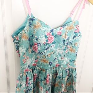 Hell Bunny Dresses - NWT Hell Bunny Sakura Blue & Pink Floral Dress SM
